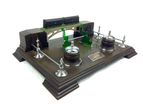 Bakelite Russian Stationary Organiser / Desk Tidy / Train History / Vintage RARE