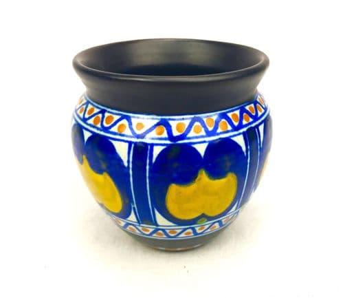 Gouda Pottery / Vase / Bowl / Art Deco / Blue / Yellow / Brown / Antique