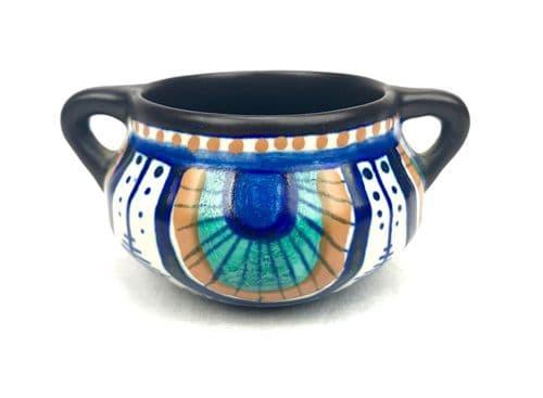 Gouda Pottery / Vase / Bowl / Jug / Art Deco / Blue / Brown / Orange Antique