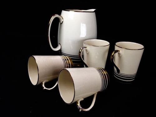 Vintage Grays Pottery 1950's Jug And Cup Set RARE colour 1 only  By Nancy Cooke