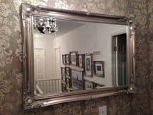 Antique Silver Decorative Wall Mirror 36inch x 26inch 91cm x 66cm *FREE P&P*