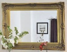 Huge Ornate Decorative Antique Gold Mirror - Choice of Size & Frame Colour