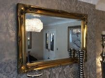 NEW Antique Gold Shabby Chic Framed Ornate Overmantle Mirror - CHOOSE YOUR SIZE