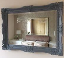 NEXT Charlotte Decorative Grey Mirror Stunning - Choice of size & Colour