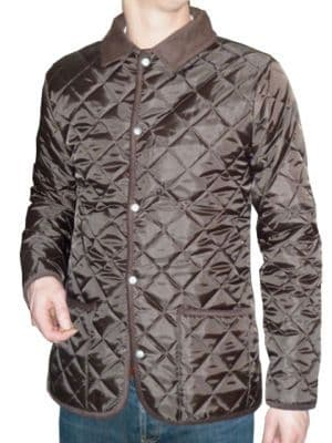 Bosworth - Quilted Jacket (brown with brown cord trims)