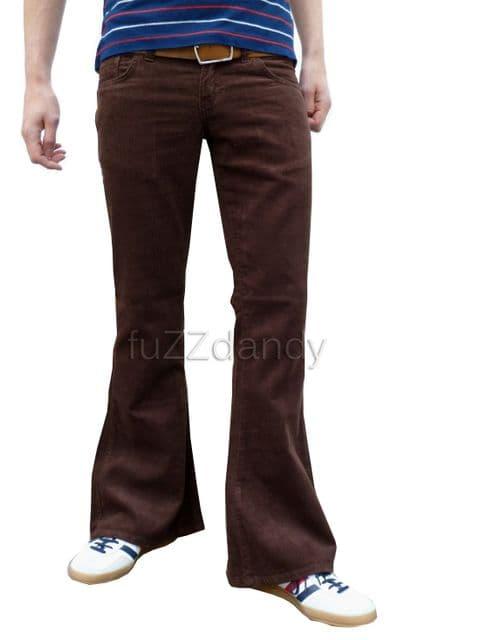 Classic Cords Flare - Corduroy Bell Bottom Flares (BROWN)