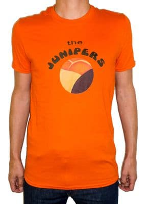 The Junipers - Band T Shirt - Paint The Ground -Orange