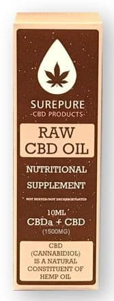 CBD Oil 1500mg Surepure 10ml (15%) - Hemp/Cannabis Special Offer + extra 10% Off + Free Delivery