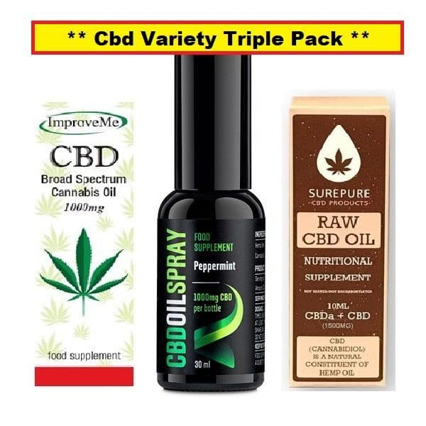 Cbd Oil Variety Pack - (Contains 3 best selling Cbd Oils) Special Offer