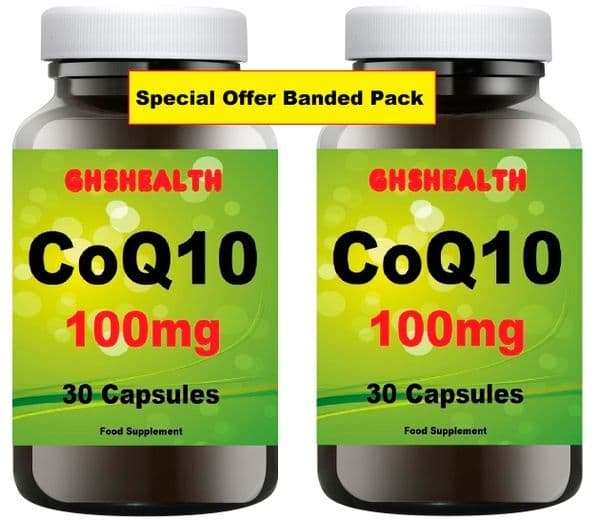 CoQ10 100mg 30+30=60 capsules special offer