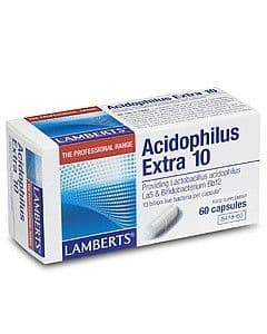 Lamberts - Probiotic - Acidophlus Extra 10 - (10 Billion Friendly Bacteria) 60 capsules