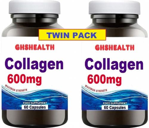 Marine Collagen 600mg 60 Capsules x 2 = 120s Twin Pack Special Offer