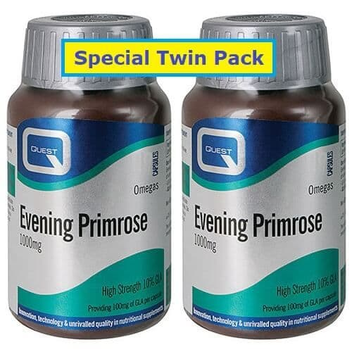 Quest Vitamins Evening Primrose Oil 1000mg (Twin Pack 2X90) Caps 180
