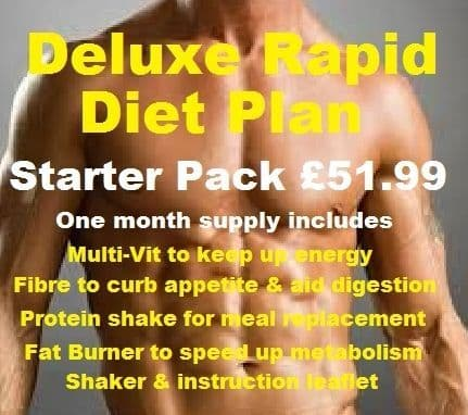 Rapid Diet Plan Deluxe Starter Pack month supply Special Offer (33 Shakes)