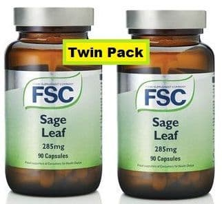 Sage 285mg - 90 capsules x 2 = 180 capsules (Twin Pack)