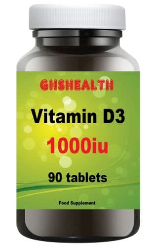 Vitamin D3 1000iu (25ug) 90 tablets