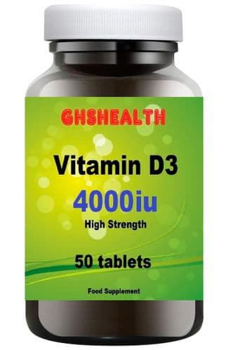 Vitamin D3 4000iu 50 tablets super strength