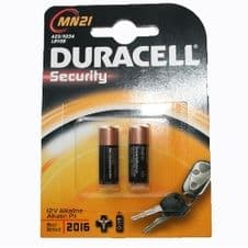 Duracell MN21 Battery 12v A23 K23A LRV08 Pack of 2