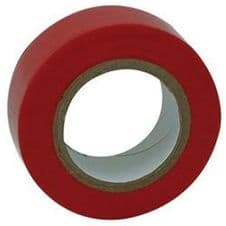 Electrical Insulation Tape Red PVC 19mm x 33mm