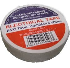 Electrical Insulation Tape White Tape PVC Insulating 33m Flame Retardant Roll 19 mm PVC 19mm x 33 Metre Professional Quality