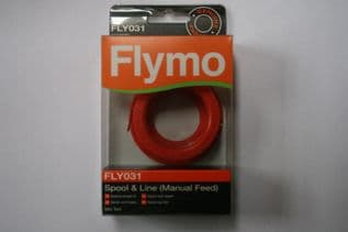 FLY031 Genuine Flymo Mini Trim Manual Feed Spool and Line Strimmer FLY031