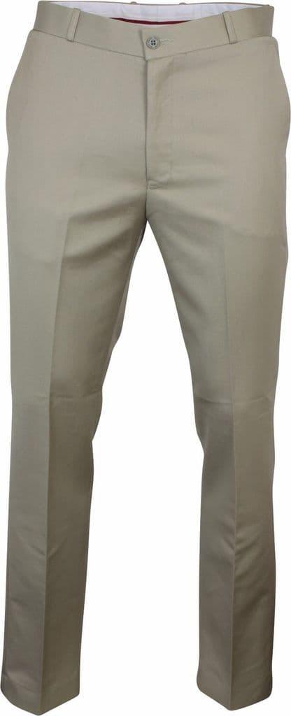Relco Men/'s Sta Press Trousers Black Khaki Burgundy Stone Blue Stay Pressed