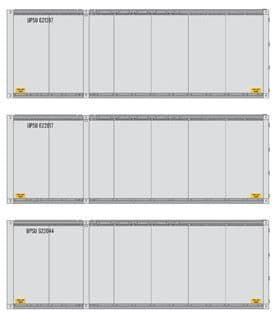 17428 28' Containers,  UPS Pack of 3