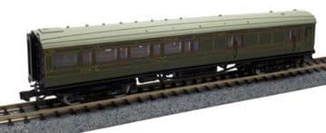 2P-012-056 Maunsell SR Brake 3rd Class Coach Lined Green 3215