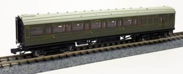 2P-012-075 Maunsell SR Brake Composite Coach Lined Green 6565