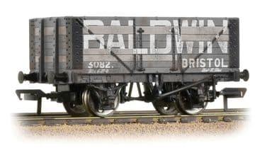 37-114 7 Plank Fixed End Wagon 'Baldwin' Weathered
