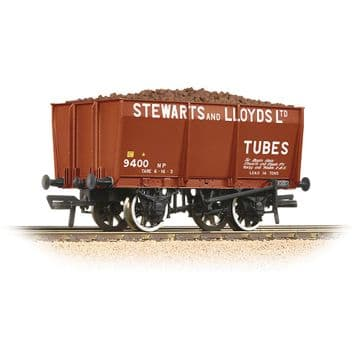 37-402 16T Steel Slope-Sided Mineral Wagon 'Stewart & Lloyds' Red [WL] Pre Order £19.50