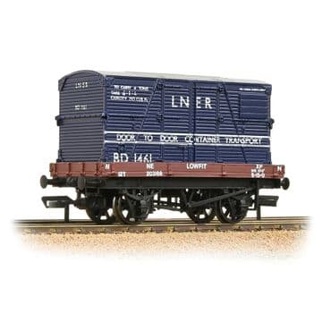 37-481 1 Plank Wagon LNER Bauxite With 'LNER' Blue BD Container Pre Order £18.65