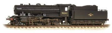 372-425AWD Austerity Class 2-8-0 90441 BR Black Early Emblem Weathered