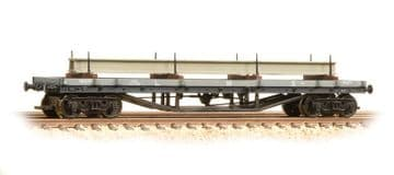 373-929 30 Ton Bogie Bolster Wagon LMS Grey with Load ##Out Of Stock##