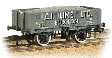 377-031 5 Plank Wagon with Steel Floor 'ICI Lime' with Load