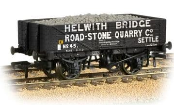 377-032 5 Plank Wagon 'Helwith Bridge Road Stone Quarry' with Load