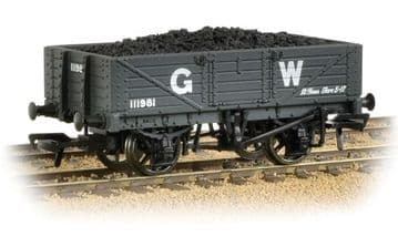 377-061 5 Plank Wooden Floor Wagon GWR Grey with Load
