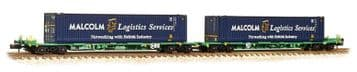 377-353A Intermodal Bogie Wagons 45ft Containers 'Malcolm Logistics' ##Out Of Stock##