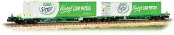 377-368 Intermodal Bogie Wagons with 45ft Containers 'ASDA' ##Out Of Stock##