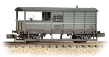377-376B 20 Ton Toad Brake Van BR Grey Weathered ##Out Of Stock##