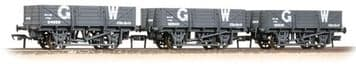 377-490 Triple Pack China Clay Wagons GWR Grey (without Hoods)