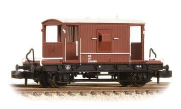 377-527C 20 Ton Brake Van LNER Oxide  ##Out Of Stock##