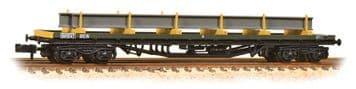 377-604 80 Tonne glw BDA Bogie Bolster Wagon BR Railfreight Distribution Metals Sector with Load ##O