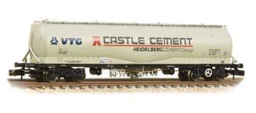 377-676B  100 Tonne JPA Cement Wagon VTG 'Castle Cement' Grey Pre Order £36.50