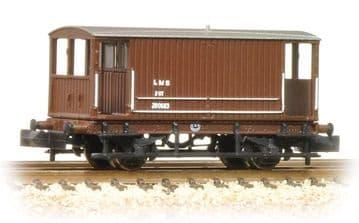 377-751 Midland 20 Ton Brake Van LMS Bauxite  ##Out Of Stock##