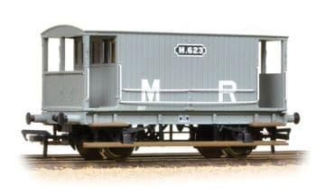 377-753 Midland 20 Ton Brake Van MR Grey Pre Order £23.75