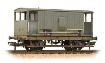377-754 Midland 20 Ton Brake Van BR Grey (With Duckets) Weathered Pre Order £23.75