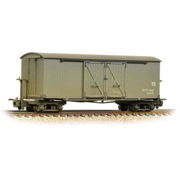 393-026A Bogie Covered Goods Wagon Nocton Estates L. R. Grey [W] Grey ##Out Of Stock##