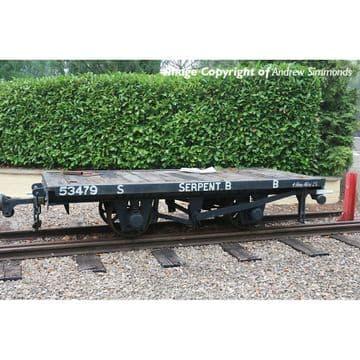 393-176 RNAD Flat Wagon Statfold Barn Railway Grey 'Serpent B' Pre Order £TBA