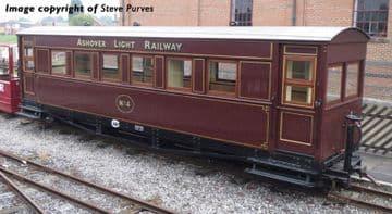394-025 Bogie Coach Ashover Railway Crimson Pre Order £TBA